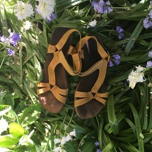 Ochre Leather Sandals